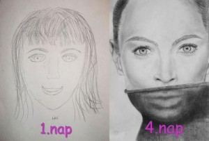 jobb agyféltekés rajzolás