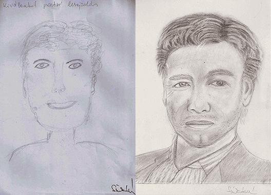 Portré jobb agyféltekés rajztanfolyam
