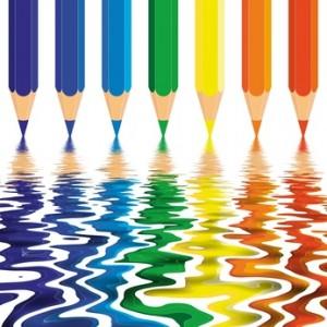 Színes jobb agyféltekés rajzolás