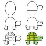 rajzolj teknőst