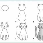 rajzolj ülő macskát