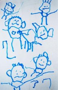 A gyermeki rajzfejlődés következő állomása: bonyolultabb szimbólumok