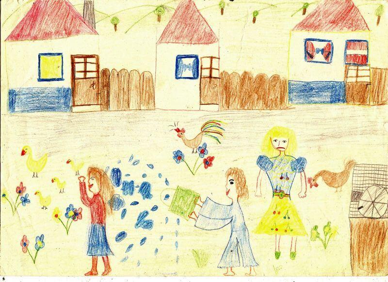 gyermeki rajzfejlődés: vágy a részletek minél pontosabb megrajzolására