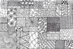 néhány zentangle minta a rajzoláshoz