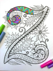 Zentangle betű
